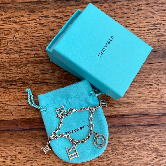 Authentic Tiffany & Co. Atlas Charm Bracelet